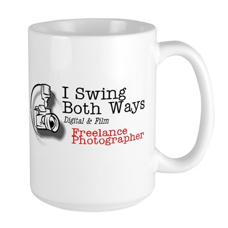 I Swing Both Ways - Photo, Large Mug