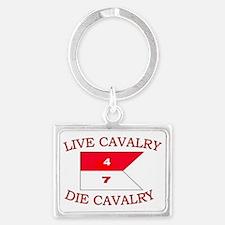 4th Squadron 7th Cavalry cap4 Landscape Keychain