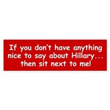 SIT NEXT TO ME! Bumper Bumper Sticker