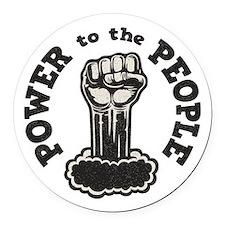 power-people-LTT Round Car Magnet