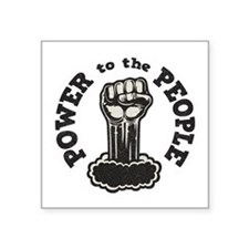 "power-people-LTT Square Sticker 3"" x 3"""