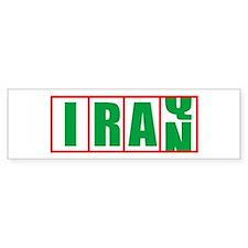 IRAQ TO IRAN Bumper Bumper Sticker