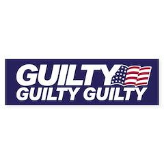 GUILTY Bumper Bumper Sticker