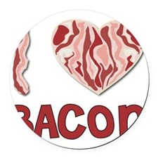 I love Bacon Round Car Magnet