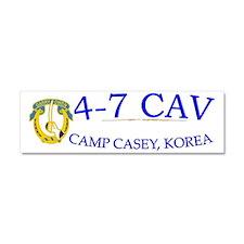 4th Squadron 7th Cavalry cap Car Magnet 10 x 3