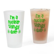 funny nuclear t-shirts nuclear swea Drinking Glass