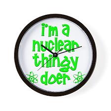 funny nuclear t-shirts nuclear sweatshi Wall Clock