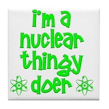 funny nuclear t-shirts nuclear sweats Tile Coaster