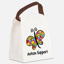 Autism Butterfly Canvas Lunch Bag