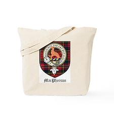 MacPherson Clan Crest Tartan Tote Bag