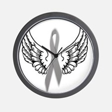 Angel Wings Cure Parkinsons Wall Clock