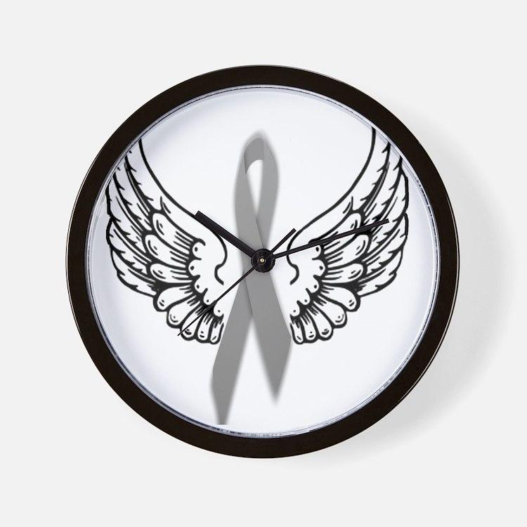 Angel Wings Cure Parkinsons Wall Clock
