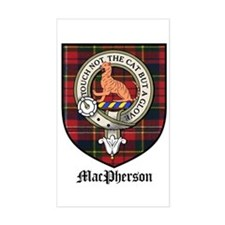 MacPherson Clan Crest Tartan Rectangle Decal