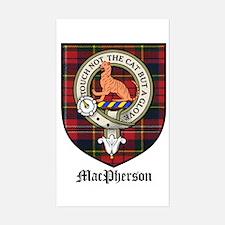 MacPherson Clan Crest Tartan Rectangle Decal