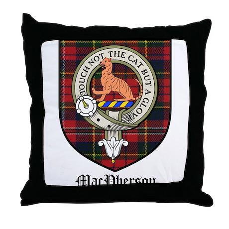 MacPherson Clan Crest Tartan Throw Pillow