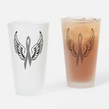 Angel Wings Cure Parkinsons Drinking Glass