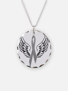 Angel Wings Cure Parkinsons Necklace