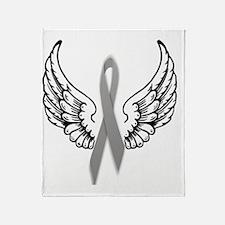 Angel Wings Cure Parkinsons Throw Blanket