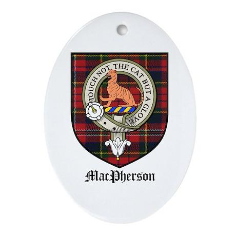 MacPherson Clan Crest Tartan Oval Ornament