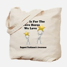 Gray is for the Brave Heros Tote Bag