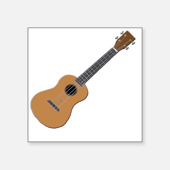 """ukulele Square Sticker 3"""" x 3"""""""