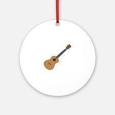 ukulele Round Ornament