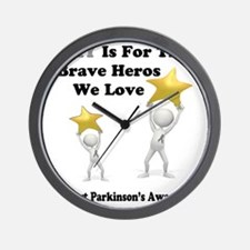 Gray is for the Brave Heros Wall Clock