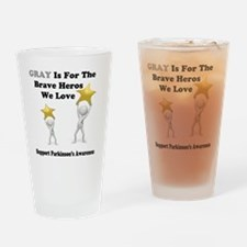 Gray is for the Brave Heros Drinking Glass