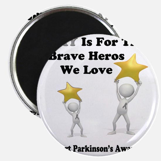Gray is for the Brave Heros Magnet