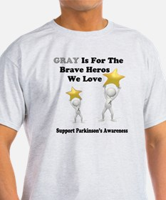 Gray is for the Brave Heros T-Shirt