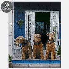 3 Airedale on porchlljkj Puzzle