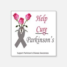 "help cure diabetes Square Sticker 3"" x 3"""