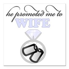 """Promoted Square Car Magnet 3"""" x 3"""""""