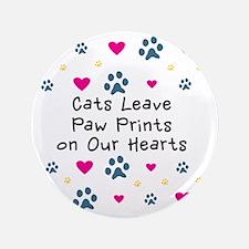 "cats-leave-paw-prints-k 3.5"" Button"