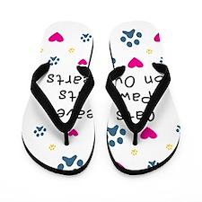 cats-leave-paw-prints-k Flip Flops