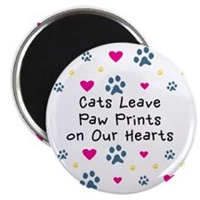 cats-leave-paw-prints-k Magnet