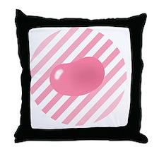 big_jelly_bean_pink_stripes_b Throw Pillow