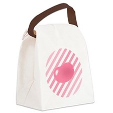 big_jelly_bean_pink_stripes_b Canvas Lunch Bag