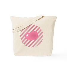 big_jelly_bean_pink_stripes_b Tote Bag