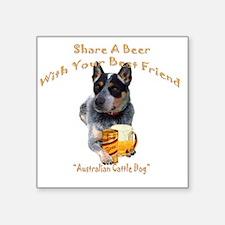 "Australian Cattle Dog Share Square Sticker 3"" x 3"""