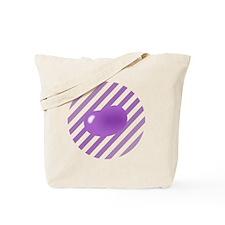 big_jelly_bean_purple_stripe_b Tote Bag
