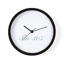 Miami_10x10_apparel_Florida_The305_Whit Wall Clock