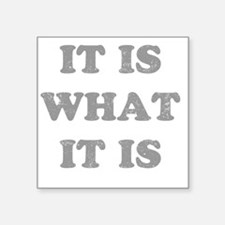"""whatitisgry Square Sticker 3"""" x 3"""""""