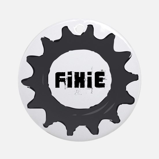 fixie_cog_GREYback2 Round Ornament