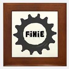 fixie_cog_GREYback2 Framed Tile