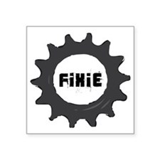 "fixie_cog_GREYback2 Square Sticker 3"" x 3"""