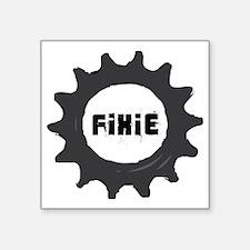 "fixie_cog_GREYback2 Square Sticker 3"" x 3"""