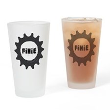 fixie_cog_GREYback2 Drinking Glass