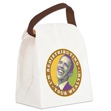 obama-laughingart flat Canvas Lunch Bag