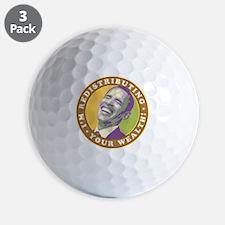 obama-laughingart flat Golf Ball